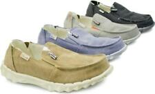 Hey Dude FARTY CHALET Faux Fur Mens Comfy Elasticated Canvas Slip On Wide Shoes