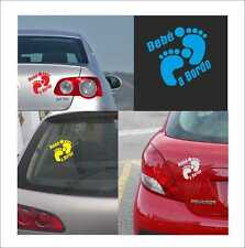 vinilo adhesivo, pegatina, sticker, decal vinyl PIES BEBE A BORDO