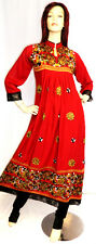 Shalwar Kameez Salwar Pakistani Indian Designer Red 3pc Sari Abaya Dress Suit 16