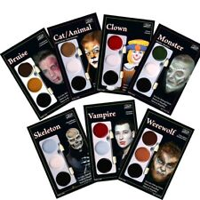 Mehron Tri-Color Palette, Halloween Palettes, Vampire, Skeleton - Please Select