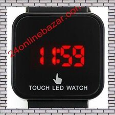 Touch Screen Red LED Digital Wrist Watch for Kid men  (4 Color Available)
