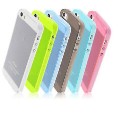 COVER Bumper Custodia MORBIDA GEL Silicone TRASPARENTE TPU Color per iPhone 5 5S