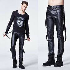 PUNK RAVE Kunstleder-Riemenhose Art. Leather Pants for Men GOTHIC HOSE PUNK EBM