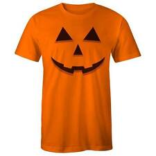 HALLOWEEN Jack-O-Lantern Pumpkin Face Orange T-shirt Costume Dress Up Party Tee