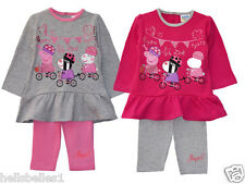 GIRL'S PEPPA PIG & FRIENDS 2PC TOP & LEGGING SET/OUTFIT 12 18 24 30M (2-2.5Y)