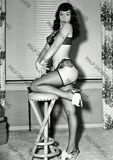 "Bettie Page Burlesque Movie Star Pin-up -set No3 of 5 Photo's 4"" x 6"" or 5"" x 7"""