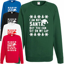 I'm Not Santa But You Can Sit On My Lap Sweatshirt Christmas Jumper Xmas Gift