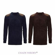 Brave Soul Neu Herren Winter Rundhals Pullover Fashion Strick Klassische S-XL