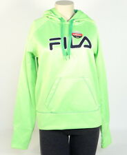 Fila Signature Bright Green Pullover Hoodie with Thumbholes Women NWT