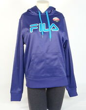 Fila Signature Purple & Blue Pullover Hoodie with Thumbholes Women NWT