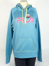 Fila Signature Blue Pullover Hoodie with Thumbholes Women NWT