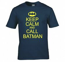 "BATMAN ""KEEP CALM AND ANRUF"" T SHIRT NEU"