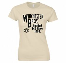 "SUPERNATURAL ""WINCHESTER BROS CAZA EVIL DESDE 5036.8cm CAMISETA MUJER"