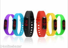 Thin Wrist Band Stylish Digital LED Sports Men Women Kid Wrist Watch (4 colors)