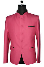 MENS STYLISH PINKISH JODHPURI PRINCE COAT , BLACK  TRIMMING PIPIN .COAT ONLY. NO