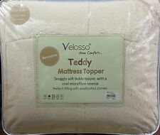 TEDDY BEAR FLEECE SOFT LUXURY MATTRESS TOPPER PROTECTOR ENHANCER ELASTICATED
