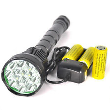 High power 13800Lm 12xXML T6 LED 18650/26650 Tactical Flashlight Hunting Torch