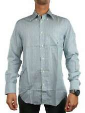 BROOKSFIELD REGULAR FIT 9101001110 VERDE BLU BIANCO Camicia manica lunga Uomo