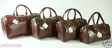 Genuine Italian Leather Duffle Travel Overnight Weekend Gym Bag Holdall Luggage