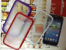 Rubber Bumper Transparent Solid Back Case Cover For Samsung Galaxy Core i8262