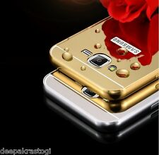 Luxury Aluminium Bumper With Mirror Acrylic Back Cover For Samsung Galaxy J5
