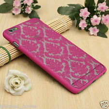 Transparent Pink Vintage Damask Hard Cover Shell Case For Apple iPhone 6/6s