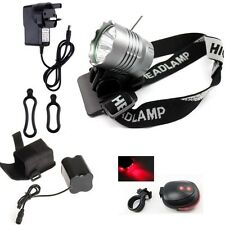 5200LM Bicycle Bike light Head Torch Lamp Headlamp Rechargeable CREE XM-L T6 LED