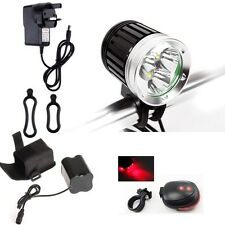 3 Cree XML T6 LED 4800LM Bike Bicycle Front Light Cycle Headlight Torch Lamp Set
