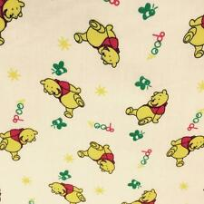 Winnie The Pooh CREAM Printed poly cotton fabric material 115cm wide sold  metre