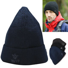 New Men's Hip-Hop Winter Slouchy Cuff Beanie Hat Warm Knit Ski Slouchy Cap Hats