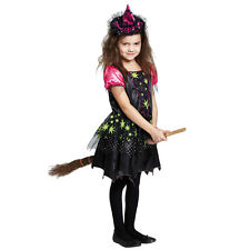 Kostüm Magic Witch Gr. 104 - 152 Fasching Karneval Halloween Hexe Kleid Kostüm