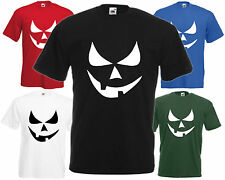Terror Smiley Calabaza Ojos Halloween Camiseta Divertida Top Fiesta De Disfraces