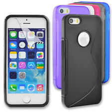 S Line Gel Back Case Skin Cover For Apple iPhone SE 5S 5 + Screen Protector