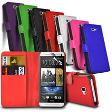 HTC Phone Leather Wallet Book Style Case Cover with Card Slots