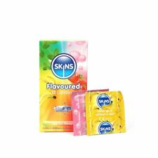 Skins Flavoured Condoms + Get Free 1 x Durex Play Feel Lube 5ML Sachet