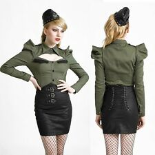 PUNK RAVE Kunst-Leder Miederrock Uniform Rock Leather Mini Skirt GOTHIC ROCK