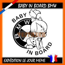 Baby in Board BMW, bmw girl baby on board