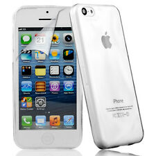 Transparent Clear Back Gel Case Cover Skin For Apple iPhone 5C +Screen Protector