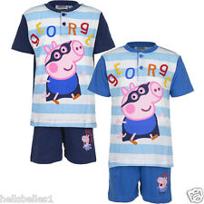 FULLY LICENSED OFFICIAL PEPPA PIG GEORGE SHORT PJ/PYJAMAS SET/OUTFIT 2 -8 YEARS