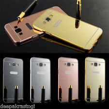 Luxury Aluminium Bumper With Mirror Acrylic Back Cover For Samsung Galaxy ON7