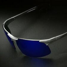 Aluminum Magnesium Alloy Frame Polarized Sunglasses Men's Driver Pilot Glasses