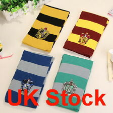 UK Harry Potter Scarf Gryffindor-Slytherin-Hufflepuff-Ravenclaw gift cosplay