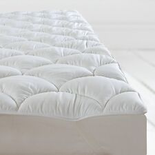 ANTI ALLERGY SOFT LUXURY MATTRESS TOPPER PROTECTOR ENHANCER ELASTICATED CORNERS