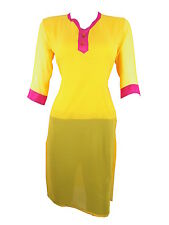trendy fashionable Georgette embroidered long casual wear women kurti