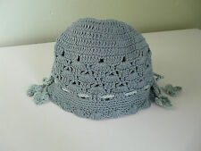 BNWT MONSOON BABY GIRL MINT GREEN COTTON CROCHET HAT SIZE 0-3 3-6 MONTHS 1-3 YRS