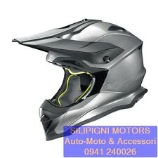 NOLAN N53 SMART 16 Scratched Chrome - Casco Integrale Cross Enduro Off Road