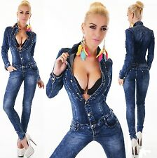 Sexy New Women's Denim Jeans Wash Playsuit Jumpsuit Overall Skinny Slim F 541