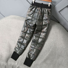 Herren camouflage Shiny Glanznylon Wet-look Jogging Sport Daunenhosen Trainings