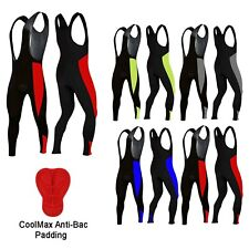 Winter Cycling Bib Tights Padded Thermal Front Bib Leggings Long Trousers