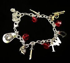 The Zombie Charm Bracelet - Gift Box Option! Walking Dead Inspired